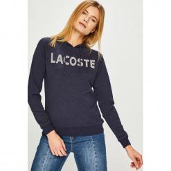 Lacoste - Bluza. Szare bluzy damskie Lacoste, z nadrukiem, z bawełny. Za 449.90 zł.