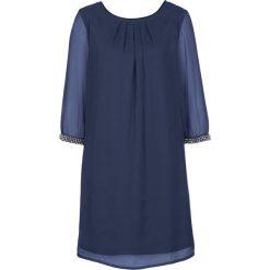 Sukienka szyfonowa bonprix kobaltowy. Niebieskie sukienki damskie bonprix, z szyfonu. Za 129.99 zł.