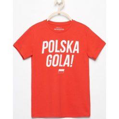 T-shirt polska gola - Czerwony. T-shirty dla chłopców Reserved. W wyprzedaży za 19.99 zł.