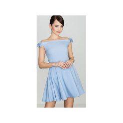 Sukienka K170 Niebieski. Niebieskie sukienki damskie Lenitif, bez rękawów. Za 139.00 zł.
