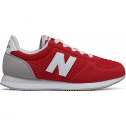 New Balance KL220BCY. Brązowe buty sportowe chłopięce New Balance, z materiału. W wyprzedaży za 169.99 zł.