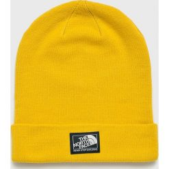 The North Face - Czapka. Żółte czapki i kapelusze damskie The North Face, z dzianiny. W wyprzedaży za 79.90 zł.