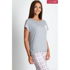 Piżama w pastelową kratę QUIOSQUE. Czerwone piżamy damskie QUIOSQUE, w kratkę, z bawełny, z długim rękawem. W wyprzedaży za 79.99 zł.