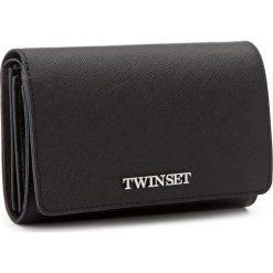 Duży Portfel Damski TWINSET - AS7T52 Nero 00006. Czarne portfele damskie Twinset, ze skóry. W wyprzedaży za 339.00 zł.