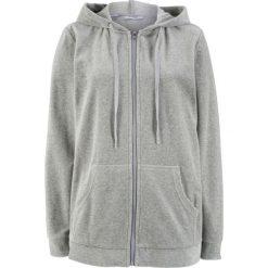 Bluza rozpinana z dzianiny welurowej nicki bonprix jasnoszary melanż. Bluzy damskie marki KALENJI. Za 49.99 zł.