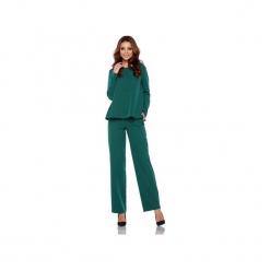 Elegancki komplet – spodnie i bluzka L284. Zielone spodnie materiałowe damskie Lemoniade. Za 239.90 zł.