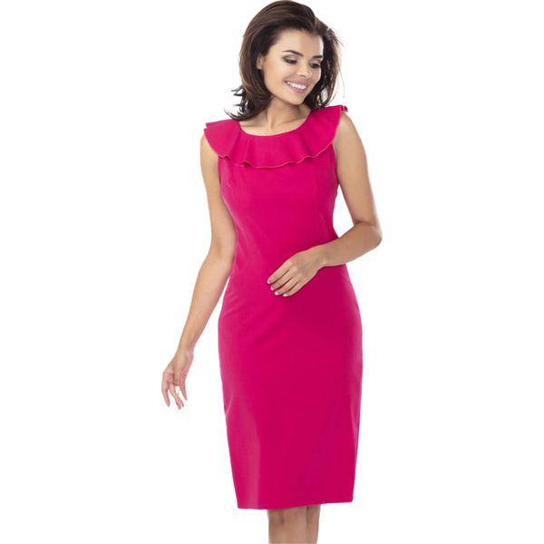 f164408cf8 Sukienka w kolorze fuksji - Sukienki damskie . W wyprzedaży za ...
