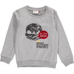 """Bluza """"Sebastian 717"""" w kolorze jasnoszarym. Szare bluzy dla chłopców marki Lego Wear Fashion, z nadrukiem, prążkowane. W wyprzedaży za 82.95 zł."""