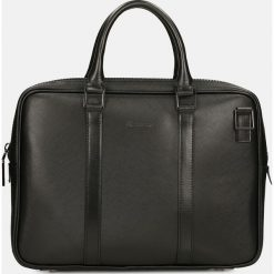 Czarna torba na laptopa. Czarne torby na laptopa męskie Kazar, w paski, ze skóry. Za 599.00 zł.
