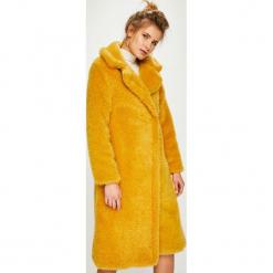 Answear - Płaszcz. Pomarańczowe płaszcze damskie ANSWEAR, z acetatu. Za 399.90 zł.