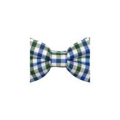 Mucha gotowa bowstyle Granatowa kratka. Białe krawaty i muchy Bowstyle, w kratkę, z tkaniny. Za 75.00 zł.