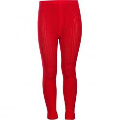 """Legginsy """"Legs"""" w kolorze czerwonym. Legginsy dla dziewczynek marki OROKS. W wyprzedaży za 42.95 zł."""