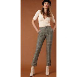 NA-KD Classic Spodnie garniturowe z rozcięciem - Green,Multicolor. Szare spodnie materiałowe damskie NA-KD Trend. Za 181.95 zł.
