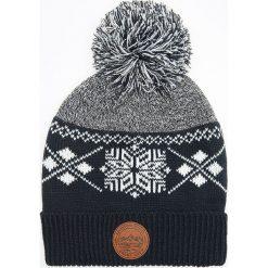 Czapka z pomponem - Granatowy. Niebieskie czapki i kapelusze męskie Cropp. Za 39.99 zł.