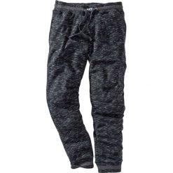 Spodnie sportowe melanżowe bonprix czarno-antracytowy melanż. Czarne spodnie sportowe męskie bonprix, melanż. Za 69.99 zł.