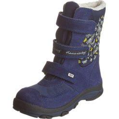 Kozaki zimowe w kolorze granatowym. Buty zimowe dziewczęce Zimowe obuwie dla dzieci. W wyprzedaży za 172.95 zł.