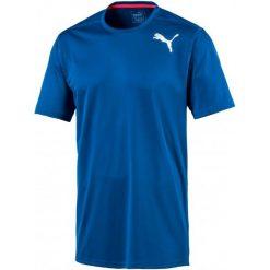 Puma Koszulka Sportowa Essential Ss Tee Lapis Blue S. Niebieskie koszulki sportowe męskie Puma, z materiału. W wyprzedaży za 69.00 zł.