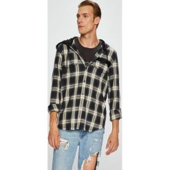 Diesel - Koszula. Szare koszule męskie Diesel, w kratkę, z bawełny, z długim rękawem. W wyprzedaży za 599.90 zł.