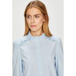 Calvin Klein - Koszula. Szare koszule damskie Calvin Klein, z bawełny, casualowe, ze stójką, z długim rękawem. Za 399.90 zł.