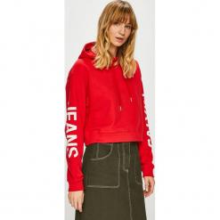 Calvin Klein Jeans - Bluza. Czerwone bluzy damskie Calvin Klein Jeans, z nadrukiem, z bawełny. Za 499.90 zł.