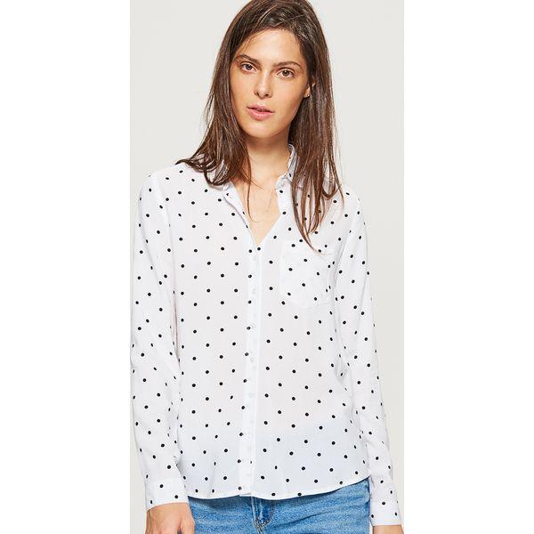 c273ec063d76 Klasyczna koszula z nadrukiem - Kremowy - Koszule damskie marki ...