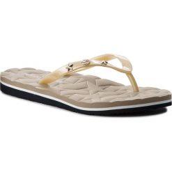 Japonki TOMMY HILFIGER - Metallic Star Beach Sandal FW0FW02656 Light Gold 708. Brązowe klapki damskie Tommy Hilfiger, z materiału. Za 159.00 zł.