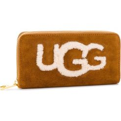 Duży Portfel Damski UGG - W Honey Zip Arnd Wallet Sheep 1093571  Che. Brązowe portfele damskie UGG, ze skóry. Za 639.00 zł.