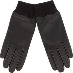 Rękawiczki Damskie CALVIN KLEIN - Satin & Leather Glov K60K604766 001. Czarne rękawiczki damskie Calvin Klein, z elastanu. Za 279.00 zł.