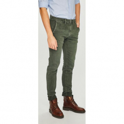 Pepe Jeans - Spodnie James. Szare eleganckie spodnie męskie Pepe Jeans, z bawełny. Za 379.90 zł.