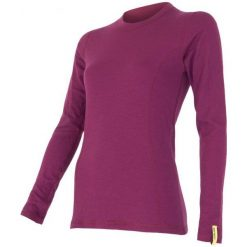 Sensor Koszulka Termoaktywna Z Długim Rękawem Double Face Merino Wool W Lila L. Czerwone koszulki sportowe damskie Sensor, z długim rękawem. Za 199.00 zł.
