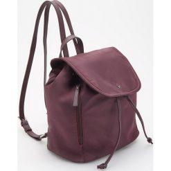 Bordowy plecak - Fioletowy. Fioletowe plecaki damskie Reserved. Za 99.99 zł.