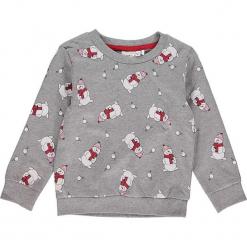 """Bluza """"Rein"""" w kolorze szarym. Szare bluzy dla dziewczynek Name it Kids, z bawełny. W wyprzedaży za 35.95 zł."""