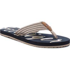 Japonki TOMMY HILFIGER - Low Beach Sandal FW0FW02372  Cobblestone 068. Brązowe klapki damskie Tommy Hilfiger, z materiału. W wyprzedaży za 109.00 zł.