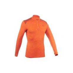 Koszulka trekkingowa długi rękaw TechWOOL 190 męska zamek. Brązowe bluzki z długim rękawem męskie QUECHUA. Za 129.99 zł.