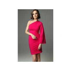 Sukienka Hellish Ellie - fuksjowa. Czerwone sukienki damskie Madnezz, z aplikacjami, z bawełny, eleganckie. Za 199.00 zł.
