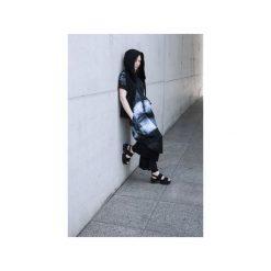 Ręcznie farbowana tunika SHIBORI. Czarne tuniki damskie Pikiel, z bawełny, z kapturem. Za 380.00 zł.