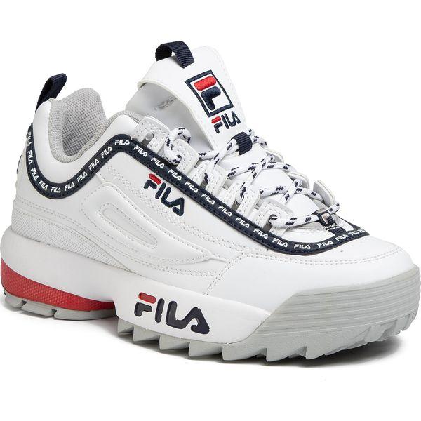 Sneakersy FILA Disruptor Logo Low Wmn 1010748.92U WhiteBeetroot Purple