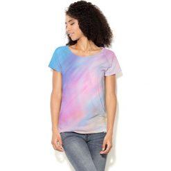 Colour Pleasure Koszulka CP-034  75 niebiesko-różowa r. XL/XXL. T-shirty damskie Colour Pleasure. Za 70.35 zł.