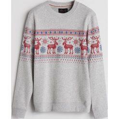 Bluza ze świątecznym motywem - Jasny szar. Szare bluzy damskie Reserved. Za 79.99 zł.