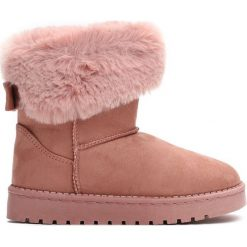 Różowe Śniegowce Winter Fun. Czerwone buty zimowe dziewczęce Born2be, z materiału. Za 54.99 zł.