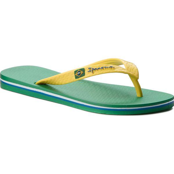 8c0e16db0a428 Japonki IPANEMA - Clas Brasil II Ad 80415 Green/Yellow 23183 ...