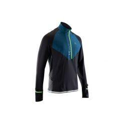 Bluza długi rękaw do biegania KIPRUN WARM REGUL męska. Czarne bluzy męskie KALENJI. Za 119.99 zł.