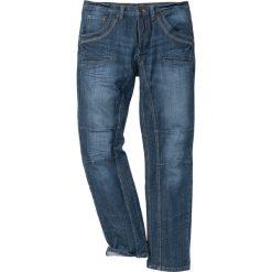 """Dżinsy Regular Fit Straight bonprix ciemnoniebieski """"stone used"""". Niebieskie jeansy męskie bonprix. Za 139.99 zł."""