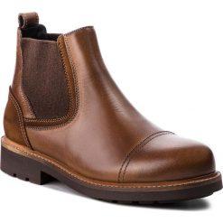 Sztyblety TOMMY HILFIGER - Active Leather Chels FM0FM01757 Winter Cognac 906. Brązowe botki męskie Tommy Hilfiger, z materiału. W wyprzedaży za 559.00 zł.
