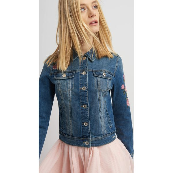 e8092f0f76128 Jeansowa kurtka z haftem - Kurtki damskie marki Orsay, z haftami, z ...