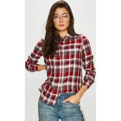 Only - Koszula Joely. Szare koszule damskie Only, w kratkę, z tkaniny, casualowe, z klasycznym kołnierzykiem, z długim rękawem. Za 129.90 zł.