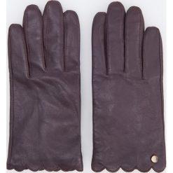 Skórzane rękawiczki - Bordowy. Czerwone rękawiczki damskie Reserved. Za 79.99 zł.