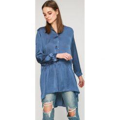 Answear - Koszula Wild Nature. Szare koszule damskie ANSWEAR, z poliesteru, casualowe, z długim rękawem. W wyprzedaży za 69.90 zł.