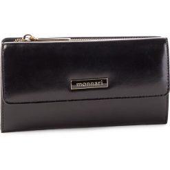 Duży Portfel Damski MONNARI - PUR0720-020 Black. Czarne portfele damskie Monnari, ze skóry. W wyprzedaży za 159.00 zł.