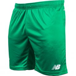 Spodenki Lechia Gdańsk - EMS7009GWT. Zielone krótkie spodenki sportowe męskie New Balance, z materiału. W wyprzedaży za 79.99 zł.